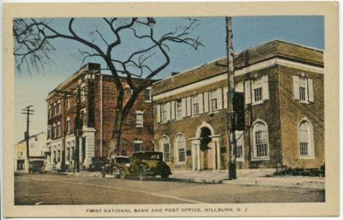 Millburn Post Office postcard